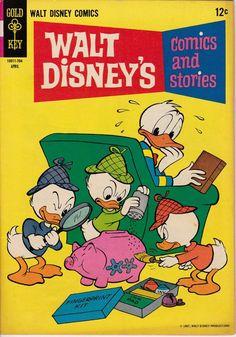 Walt Disney's Comics and Stories April 1967 Gold Key Comics Grade Fine Comic Books For Sale, Vintage Comic Books, Vintage Comics, Disney Duck, Disney Art, Book Creator, Duck Tales, Disney Cartoons, Famous Cartoons