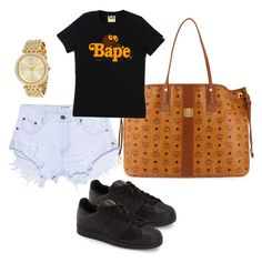 """""""Untitled #46"""" by tay-liangg on Polyvore featuring One Teaspoon, adidas, MCM, A BATHING APE and Michael Kors"""