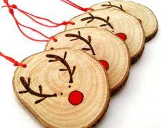 Adornos medias de Navidad árbol de Navidad por ByHandHeart en Etsy