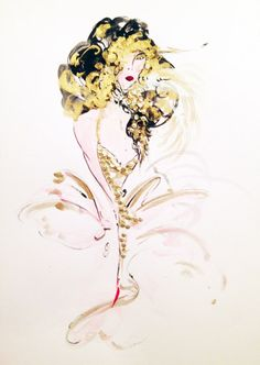 watercolour, ink, acrylic - 2014 #iamdanielfisher #art #fashionillustration