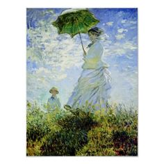 Woman with a Parasol by Monet Posters