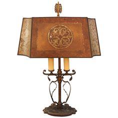 Early 1900s Wrought Iron Floor Lamp Spanish Revival Mediterranean ...
