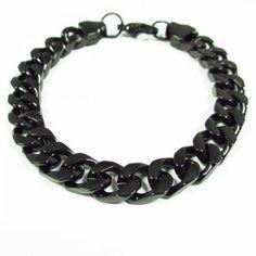 Fiche produit de la gourmette noire Jewelry, Black Bracelets, Jewelery, Jewellery Making, Jewlery, Jewerly, Fine Jewelry, Jewels, Jewel