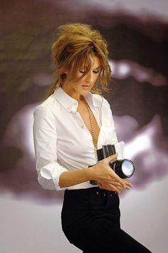 white shirt, a classic, and Celine Dion