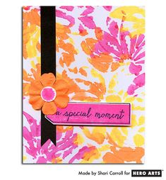 Card: Neon Daubers & Stencils by Shari Carroll