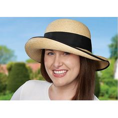 The Women's Raffia Tilley Hat is designed with a medium brim. Trimmed with a black hatband, matching piped edge and a practical grosgrain ribbon wind cord, this Hat has stylish appeal while also offering ultimate sun protection. The brim ca… Raffia Hat, Travel Wardrobe, Brim Hat, Sun Hats, Grosgrain Ribbon, Hats For Women, Panama Hat, Style Inspiration, Medium
