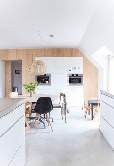 mooie keukenvloer. Moet wel met houten werkblad
