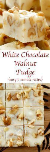 White Chocolate Walnut Fudge More