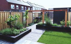 Back Garden Design, Small Backyard Design, Small Backyard Landscaping, Backyard Ideas, Concrete Patio Designs, Small Garden Landscape, House Paint Exterior, Outside Living, Garden Inspiration