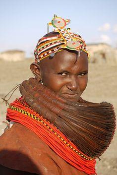 *Chalbi desert - Rendille people. The Rendille tribe inhabits the arid region of northern Kenya