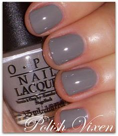 OPI French Quarter for Your Thoughts.will I finally replace Over the Taupe? - OPI French Quarter for Your Thoughts.will I finally replace Over the Taupe? Or just keep both as go-to colors. Get Nails, How To Do Nails, Hair And Nails, Opi Nail Colors, Opi Nail Polish, Gray Polish, Nail Envy, Manicure And Pedicure, Manicure Ideas
