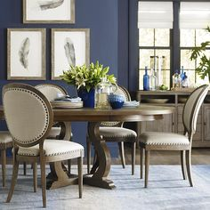 50 Modern Round Dining Table Design Ideas For Inspiration. Round dining tables are one of the best choices of furniture you can have for your kitchen or dining area. Rustic Round Dining Table, West Elm Dining Table, Round Dining Table Sets, Dining Table With Leaf, Dining Table Design, Dining Table Chairs, Dining Room Furniture, Modern Furniture, Kitchen Tables