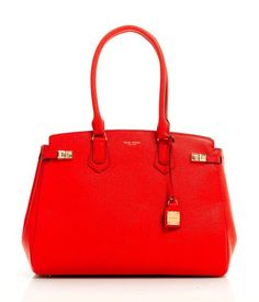 Must have in this bright red pebbly texture!   CARLYLE CAVIAR TOTE | Handbags | Henri Bendel