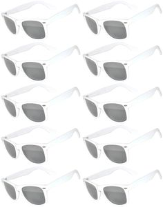 ee456024120 Vintage Mirrored Lens Sunglasses Matte Frame 10 Pack in Multiple Colors OWL  10 Pairs White Matte Mirror     Want extra information  Click on the photo.