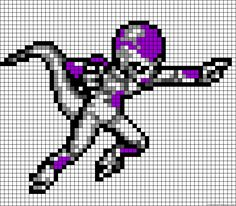 Frieza Dragon Ball Z perler bead pattern
