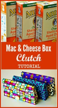 Duct Tape Clutches made from Mac & Cheese Boxes might work for a clutch for a wedding with white tape Duct Tape Projects, Duck Tape Crafts, Washi Tape Crafts, Crafts For Girls, Crafts To Make, Duct Tape Clutch, Devon, Clutch Tutorial, Tape Art