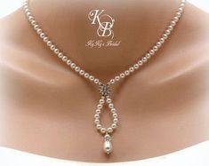 Algo azul collar nupcial collar de estilo por KyKysBridalBoutique
