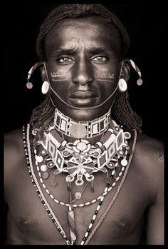 Portrait from 'Northern Kenya' by John Kenny - Human - Face Photography Gallery, Portrait Photography, John Kenny, Beautiful Men, Beautiful People, African Tribes, African Art, Tribal People, Portraits