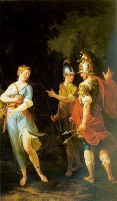 Venus appearing to Aeneas and Achates by Donato Creti (1671–1749). Museum of John Paul II Collection (Porczyński Gallery)
