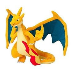 Elobeth Pokemon Center Mega Charizard Y Stuffed 9 Inches Plush Doll *** Click here for more details @