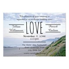 Save the date beach wedding tropical beach marriage announcement beachocean love 3x5 wedding invitation stopboris Images