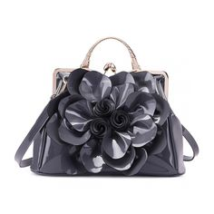 Leather Backpack, Pu Leather, Leather Flowers, Hobo Handbags, Latest Trends, Backpacks, Shoulder Bag, Grey, Women