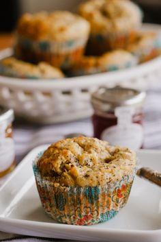 lemon  poppy seed spelt muffins.