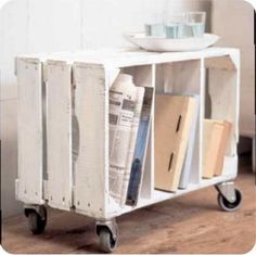 Pallet... like this idea for bedside tables... gonna be on the look out for pallets
