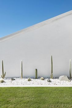 Cactus garden at Palm Springs style home. Cactus garden at Palm Springs style home. Outdoor Landscaping, Front Yard Landscaping, Outdoor Gardens, Hydrangea Landscaping, Indoor Outdoor, Palm Springs Houses, Palm Springs Style, Spring Landscape, Landscape Design