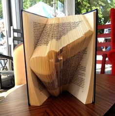 Guitar  Folded Book Art  Book Sculpture  by FoldedBookGifts