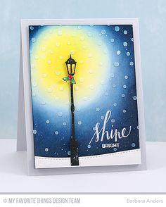 Handmade card from Barbara Anders featuring Streetlights Die-namics