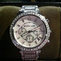 MK sparkly watch-my new obsession! I love watches!!! Ahhh!!