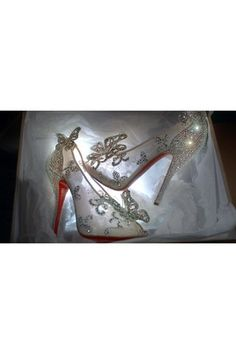 Louboutin Cinderella's glass slippers... yes please!