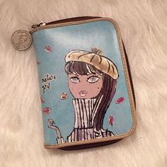 """Nature girl bobbypin by Jeffrey Fulvimari wallet EUC - excellent used condition. Only used a few times. Minimal signs of wear. Bifold. Bobby Pin by Jeffrey Fulvimari Approx dimensions 5"""" x 3.75"""" All zippers work. Bobbypin by Jeffrey Fulvimari Bags Wallets"""