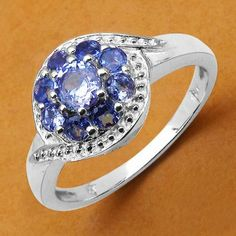 0.66CTW Genuine Tanzanite .925 Sterling Silver Ring - http://www.johareez.com/shop/justbuyit/rings/0-66ctw-genuine-tanzanite-925-sterling-silver-ring-7743/$10630189