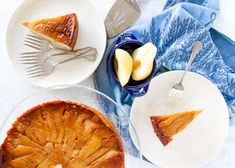 This Upside Down Pear Cardamom Cake will impress friends, family, and coworkers alike with festive spices and layered, caramel-coated pear slices. Perfect for the holidays! Sweets Recipes, Lunch Recipes, Breakfast Recipes, Dinner Recipes, Quick Easy Desserts, Easy Meals, Cardamom Cake, Meringue Frosting, Wrap