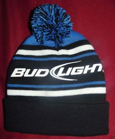 BudLight Beer Winter Stocking Ski  Hat Striped Print 2012 Adult s One 9390d454c71b