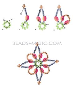 Free pattern for earrings ROBERTINA | Beads Magic. Use: seed beads 10/0-11/0, seed beads 15/0, pearls (any size). Page 2 of 2