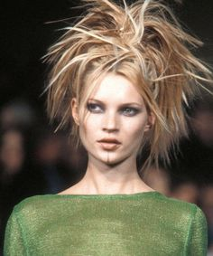 Kate Moss on the runway.