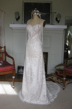 Strapless Rustic Lace Wedding Gown by Etsy seller hippiebride     Can't Afford It? Get Over It! Rue de Seine's Fox for Under $1000