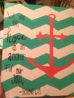 Hebrews 6:19 DIY canvas painting by Rachel C