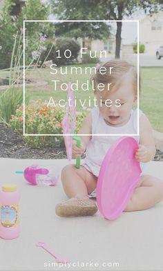10 Fun Summer Toddler Activities #buybuybaby #babyhood #sponsored