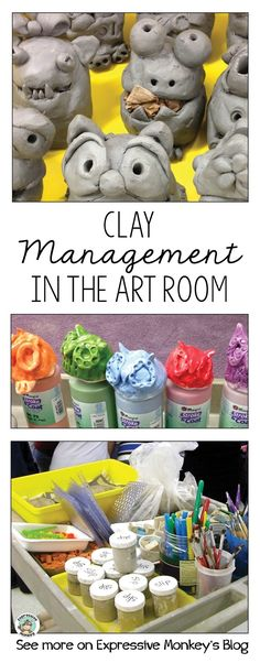 Tips and tricks for keeping clay projects organized in the elementary art room.