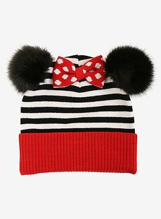 d7a4a1c17728e Disney Minnie Mouse Pom Beanie - BoxLunch Exclusive