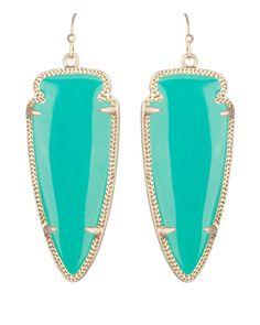 Skylar Earrings in Teal - Kendra Scott Jewelry