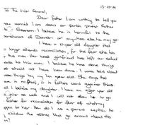 parents letter to the vicar general of the catholic church complaining about searsons sexual abuse of
