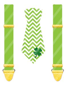 St. Patrick's Day Lucky Tie Set Digital by SkipAlongGraphics