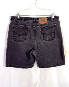 33f0c2451c vtg 80s Levis 550 Relaxed Fit Orange Tab Black/Gray Denim Jean Shorts USA  sz 40