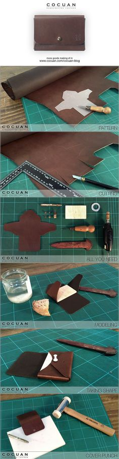 """Card wallet making of www.cocuan.com...""""Spoony says"""": This is simple and sweet!"""
