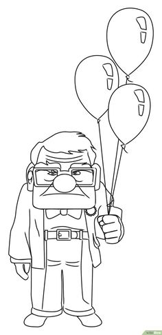 How to Draw Carl from Up: 8 Steps (with Pictures)
